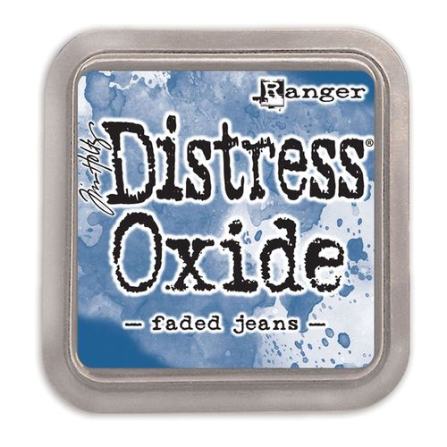 Distress Oxide Faded Jeans
